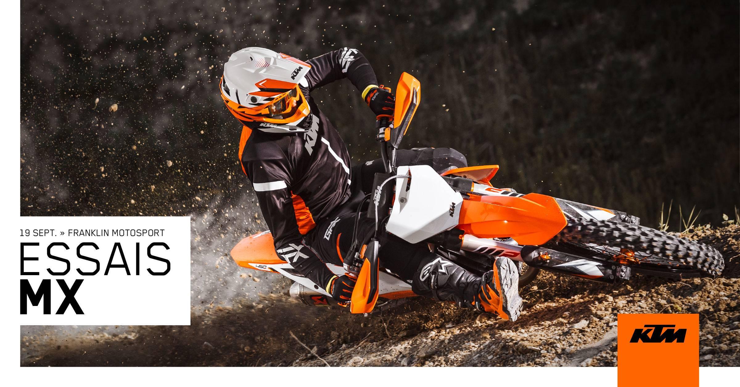 19 septembre - Essais MX et hors-route KTM