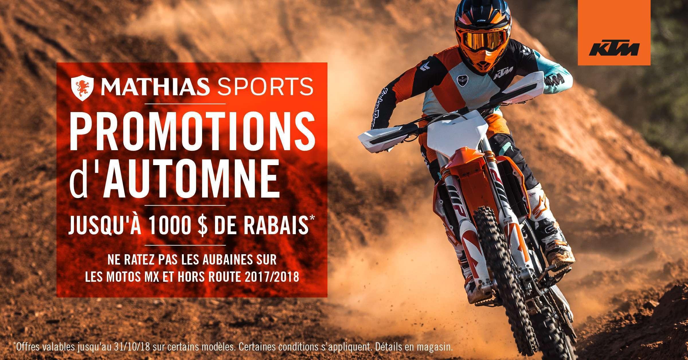 Promotions d'automne KTM: ne ratez pas les aubaines sur les motos hors route!