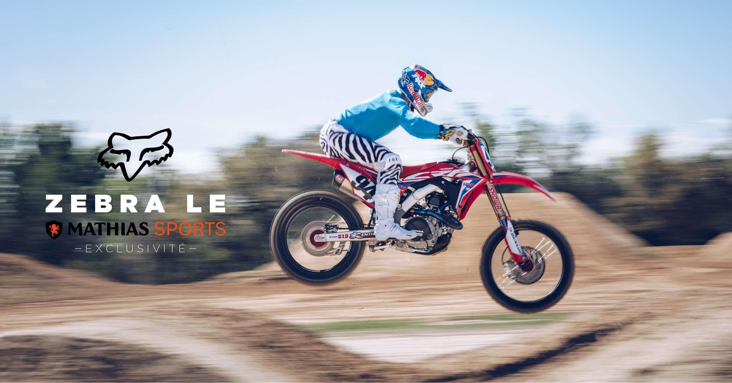Exclusivité Mathias Sports: édition spéciale Flexair Kit Zebra LE de Fox