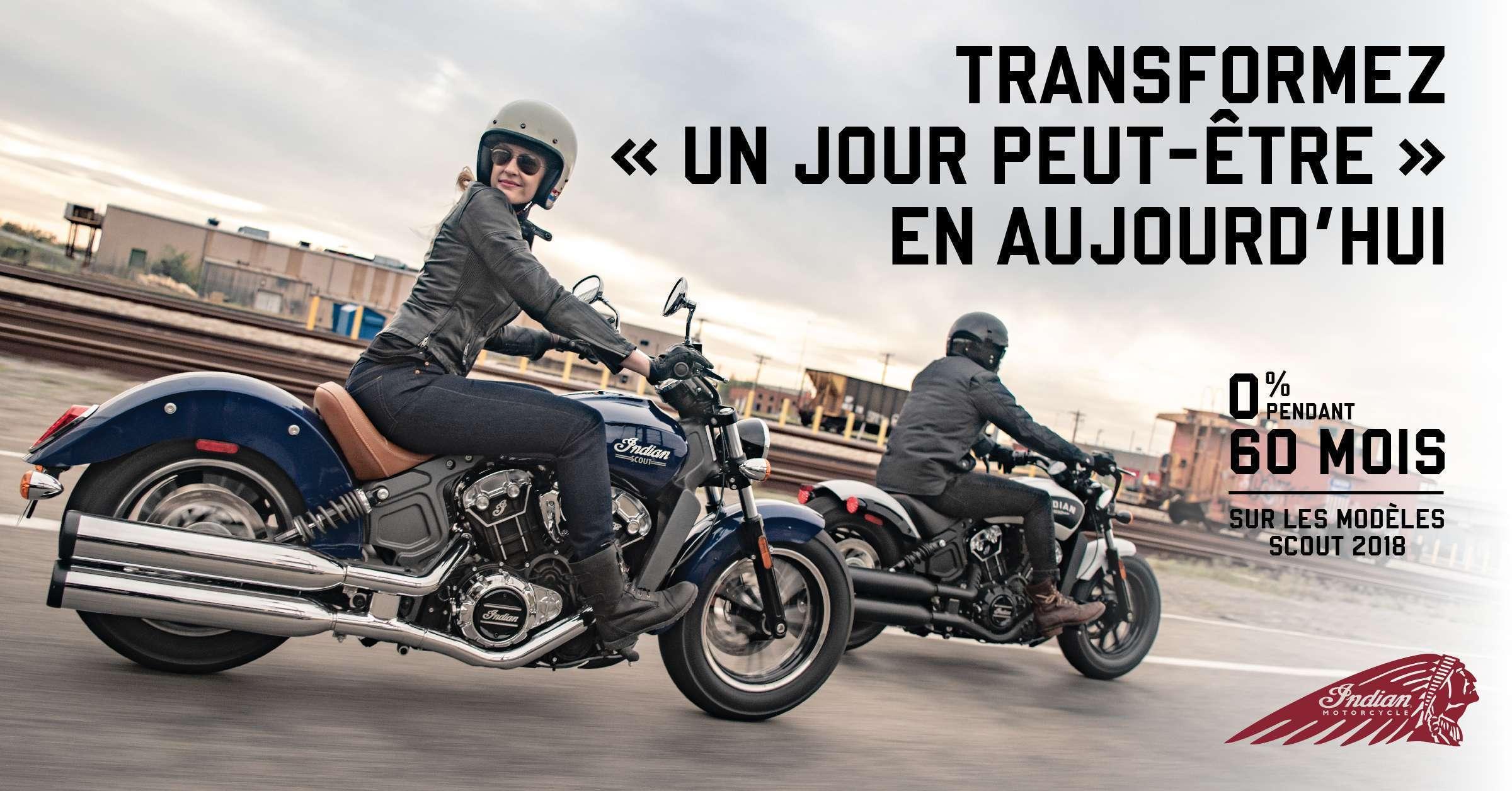 Offres spéciales sur les modèles Scout Indian Motorcycle !