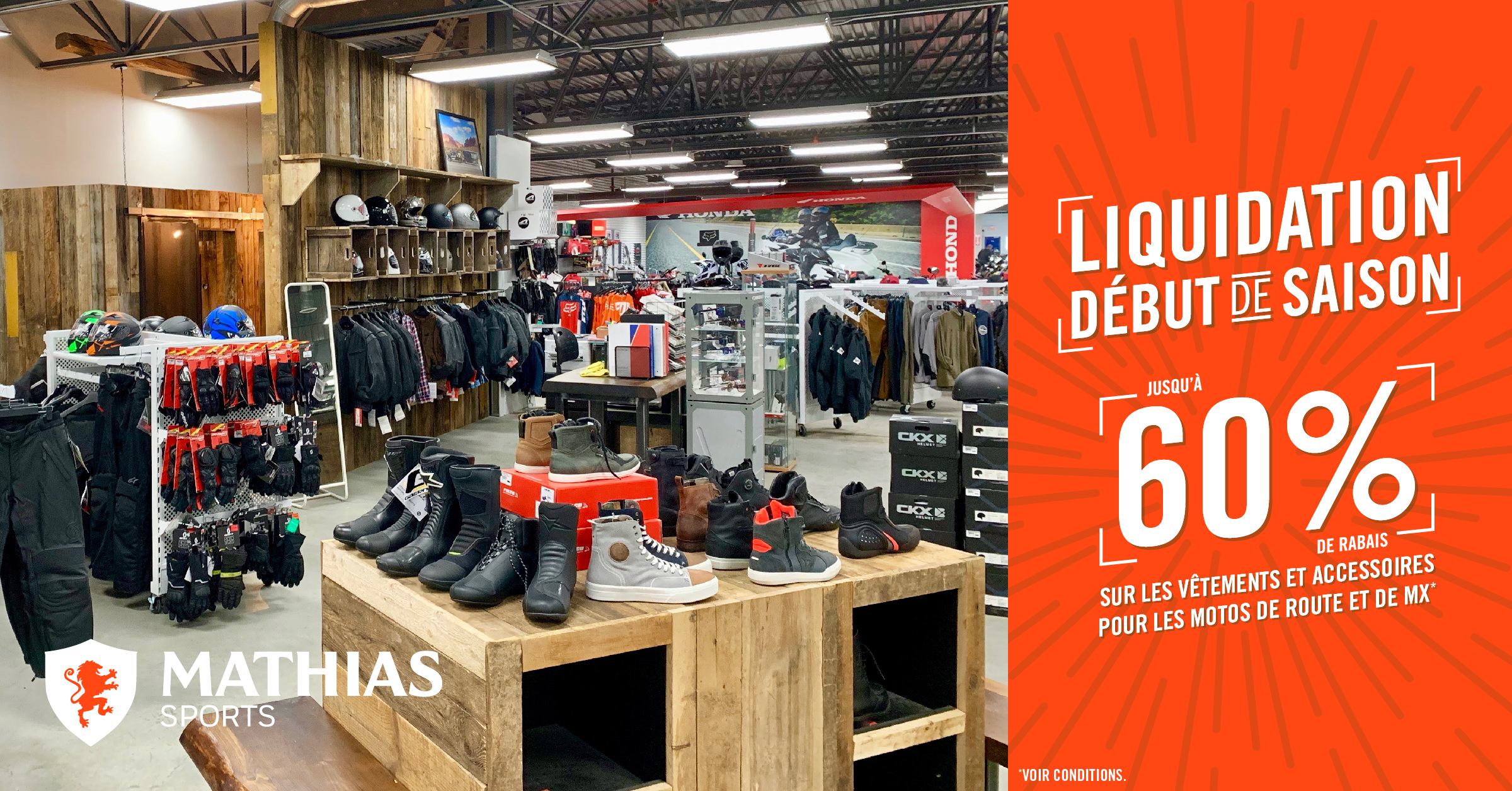Grande Liquidation à la Boutique Mathias Sports !