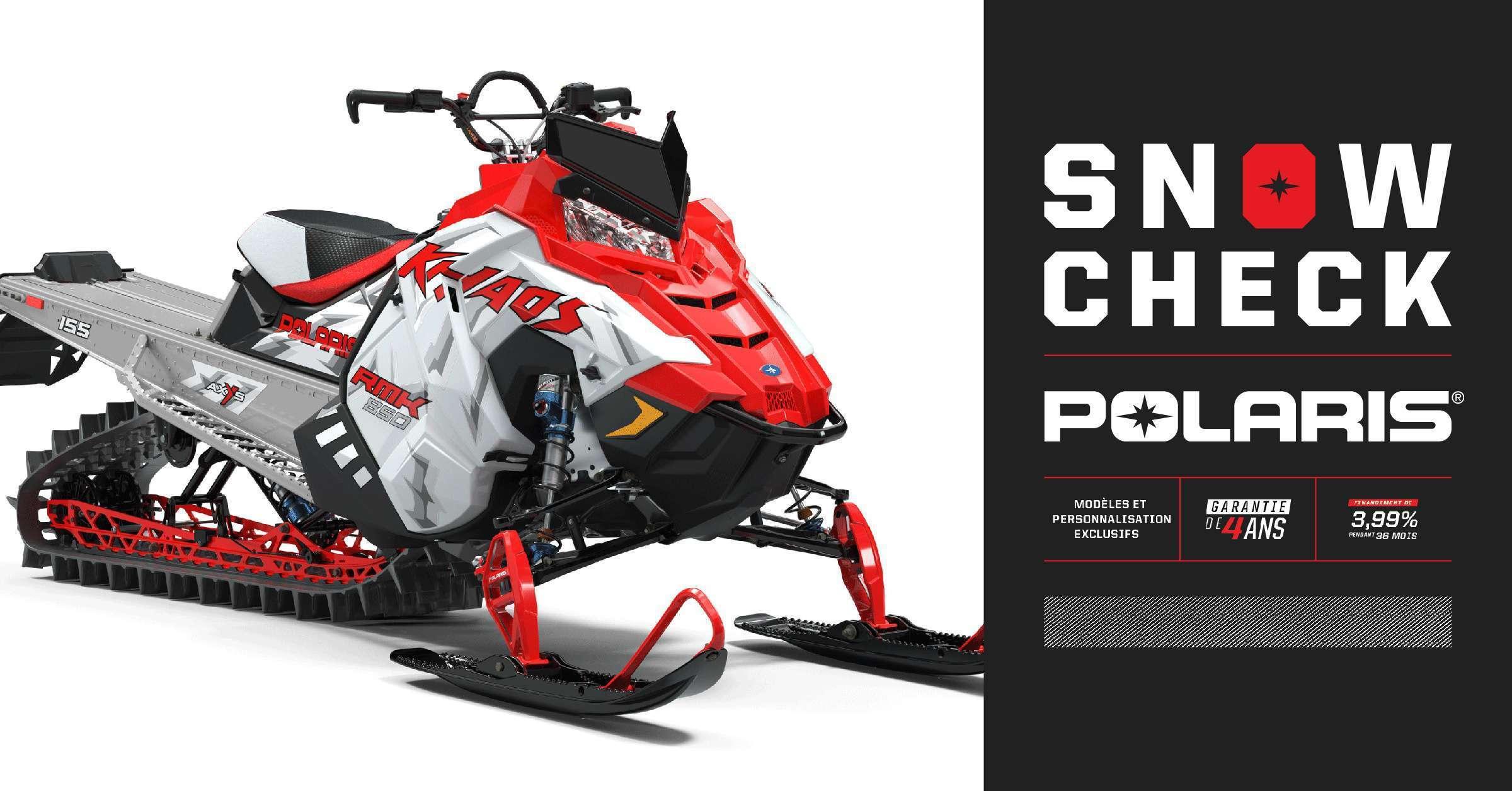 Snowcheck 2020: personnalisez votre motoneige à un tout autre niveau