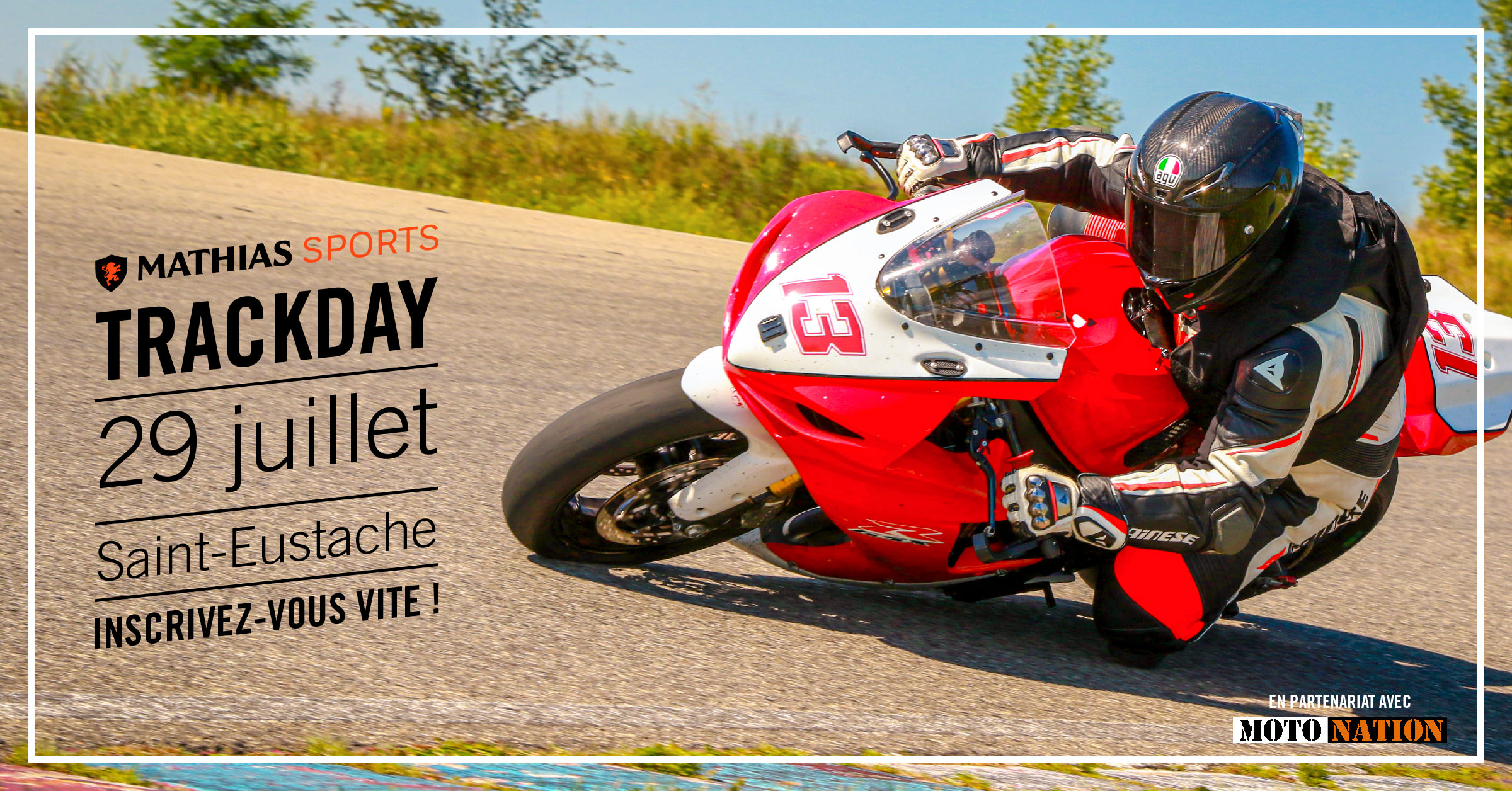 Ne manquez pas notre Track Day le 29 juillet à Saint-Eustache !