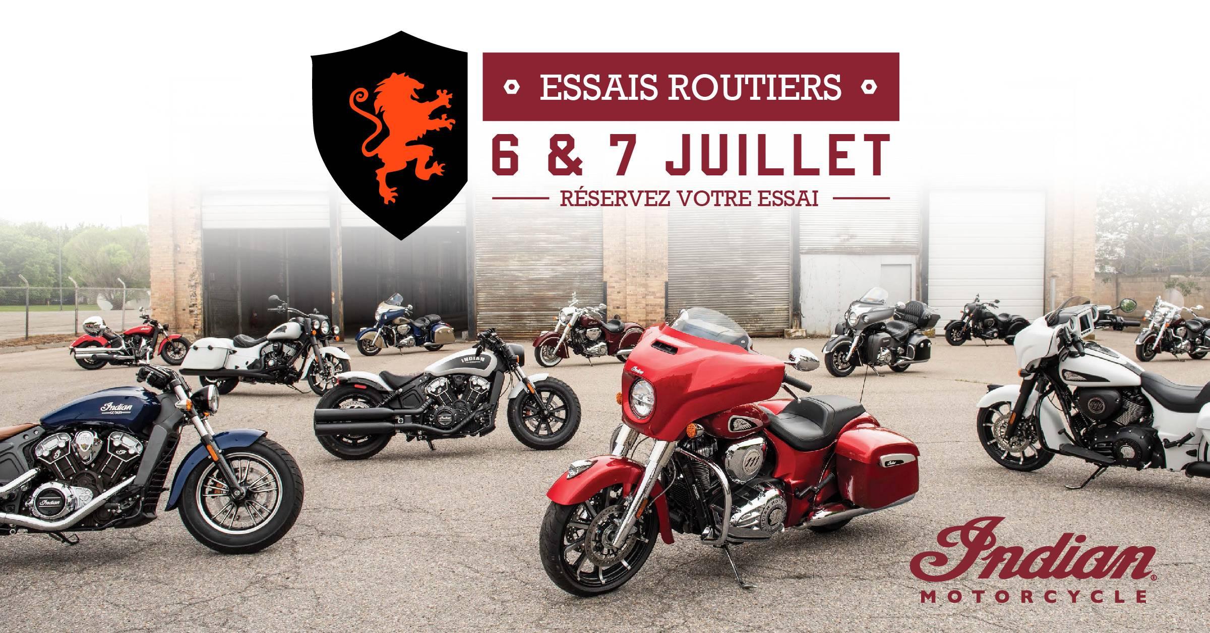 Journées d'essais Indian Motorcycle - 6 & 7 juillet