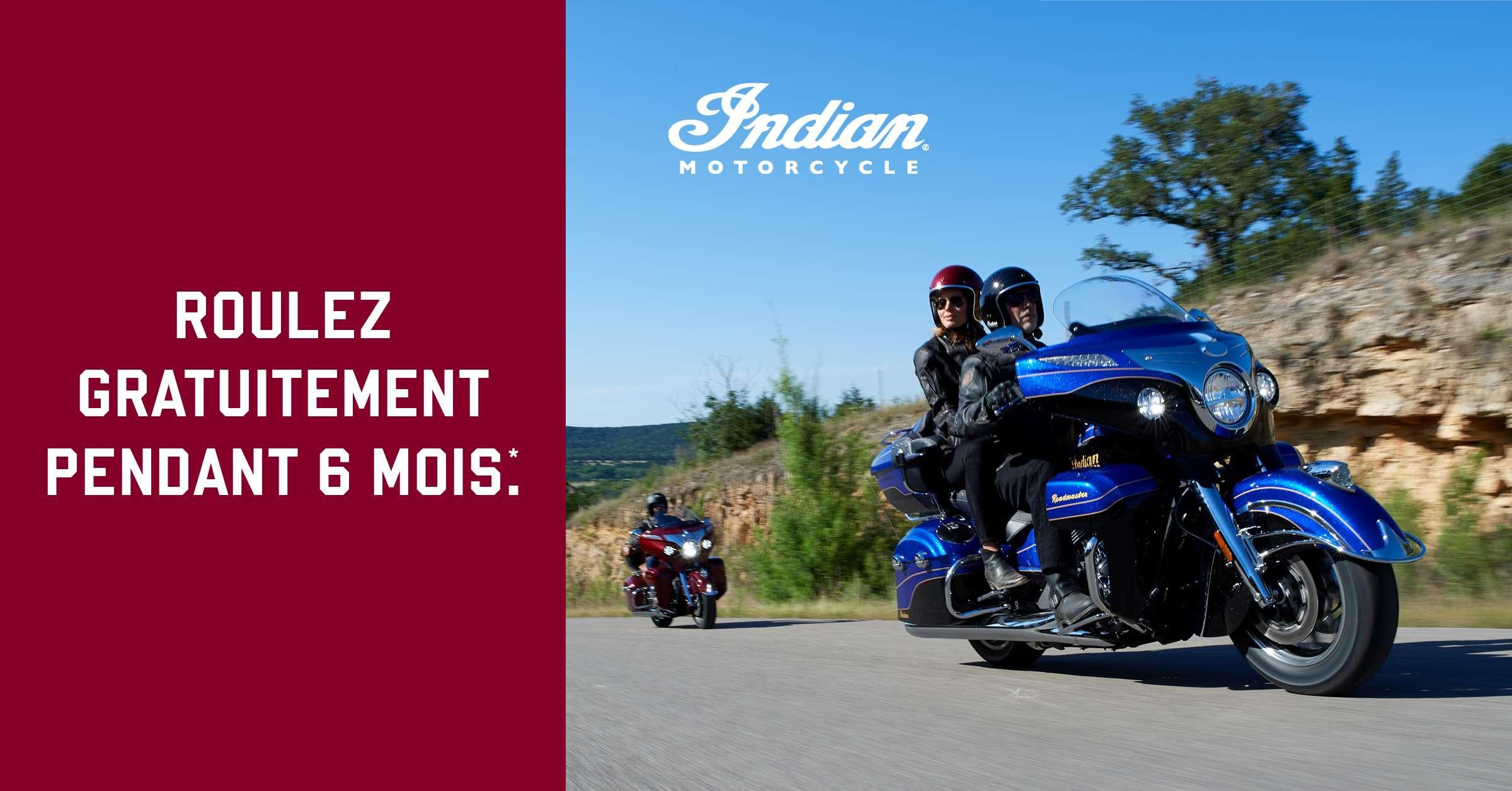 Indian Motorcycle: roulez gratuitement pendant 6 mois!