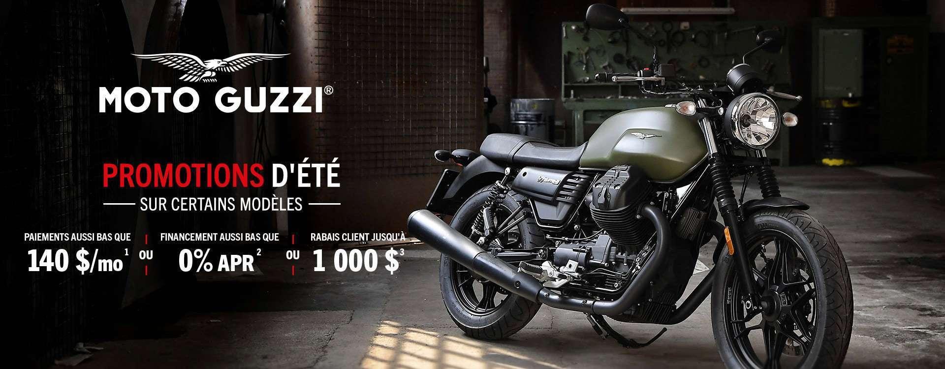 Profitez du beau temps et des promotions d'été moto Guzzi