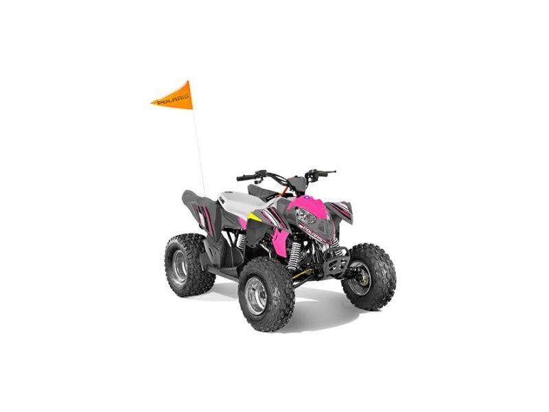 MSU-2021A21YAF11B5 Neuf POLARIS Outlaw 110 EFI Avalanche Gray/Pink Power 2021 a vendre 1