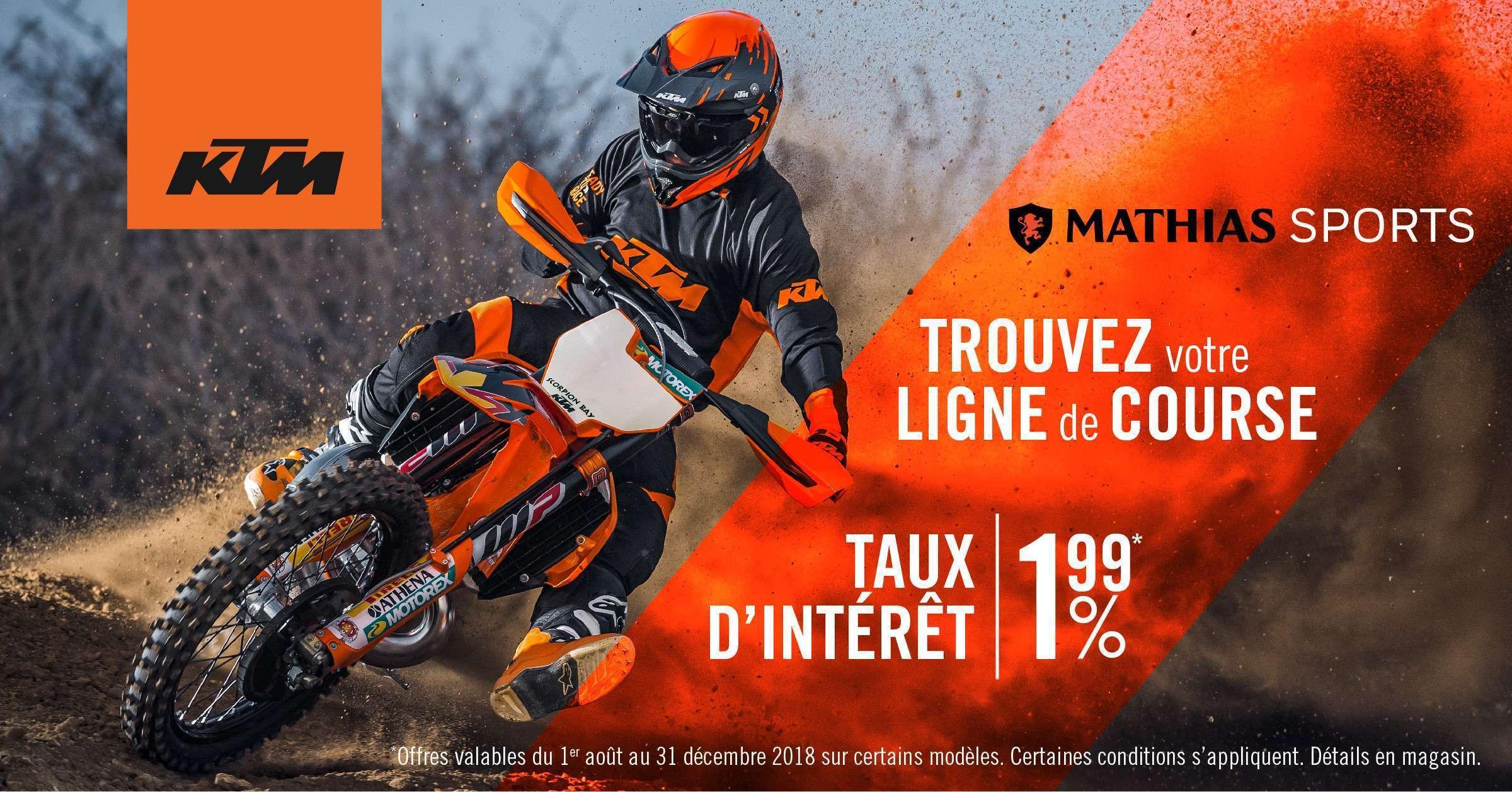 Trouvez votre ligne de course avec KTM!
