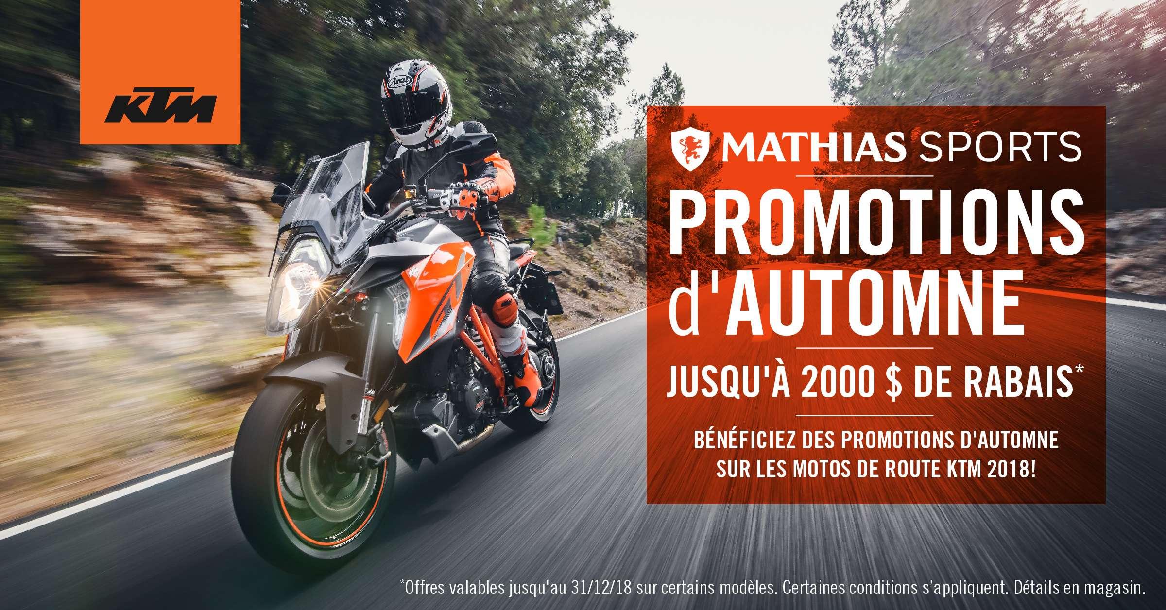 Bénéficiez des promotions d'automne sur les motos de route KTM!