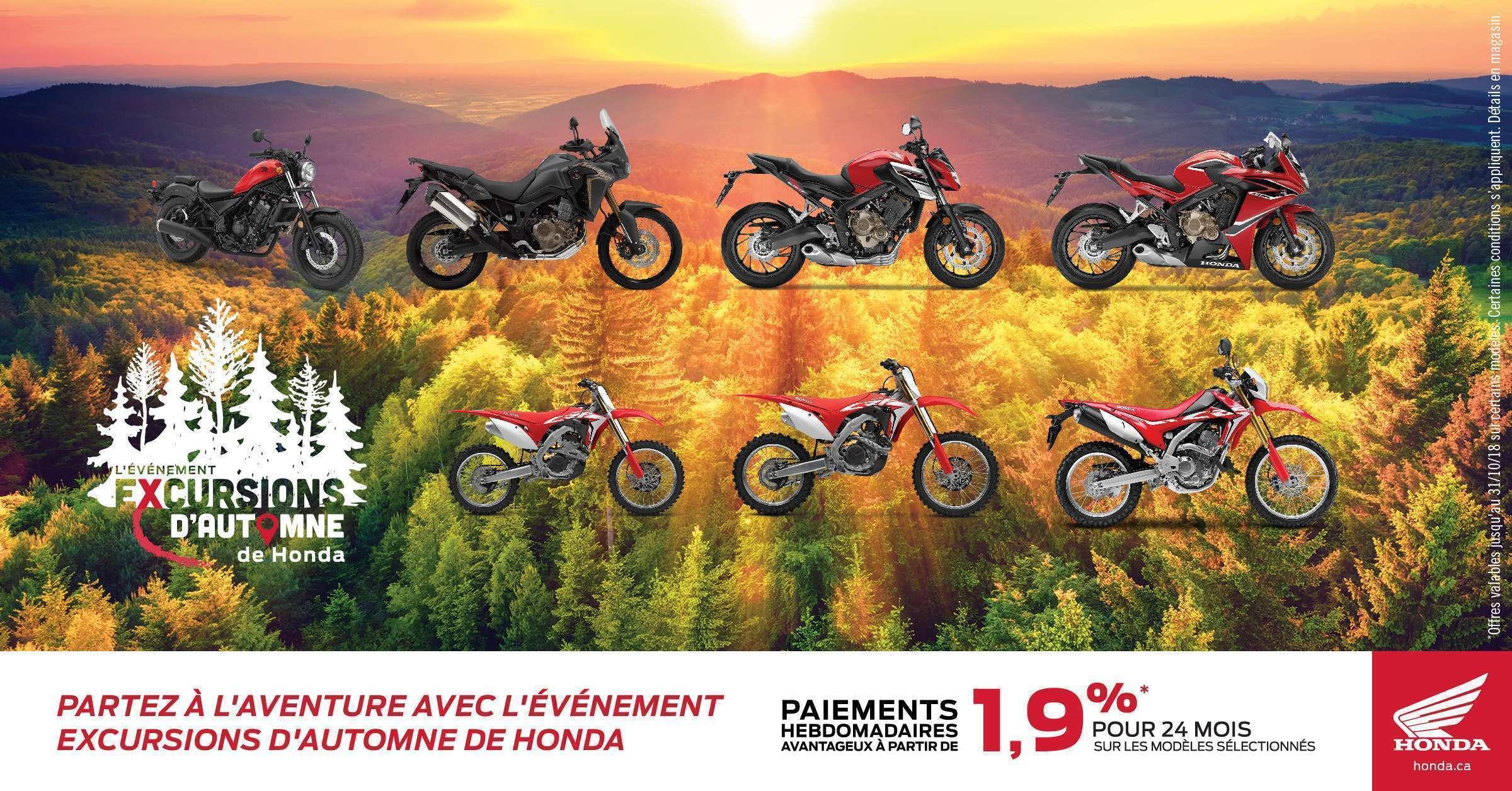 Partez à l'aventure avec l'événement excursions d'automne de Honda