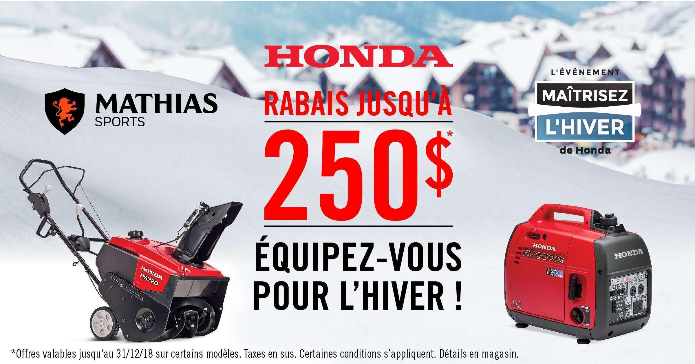 Équipez-vous pour l'hiver avec Honda!
