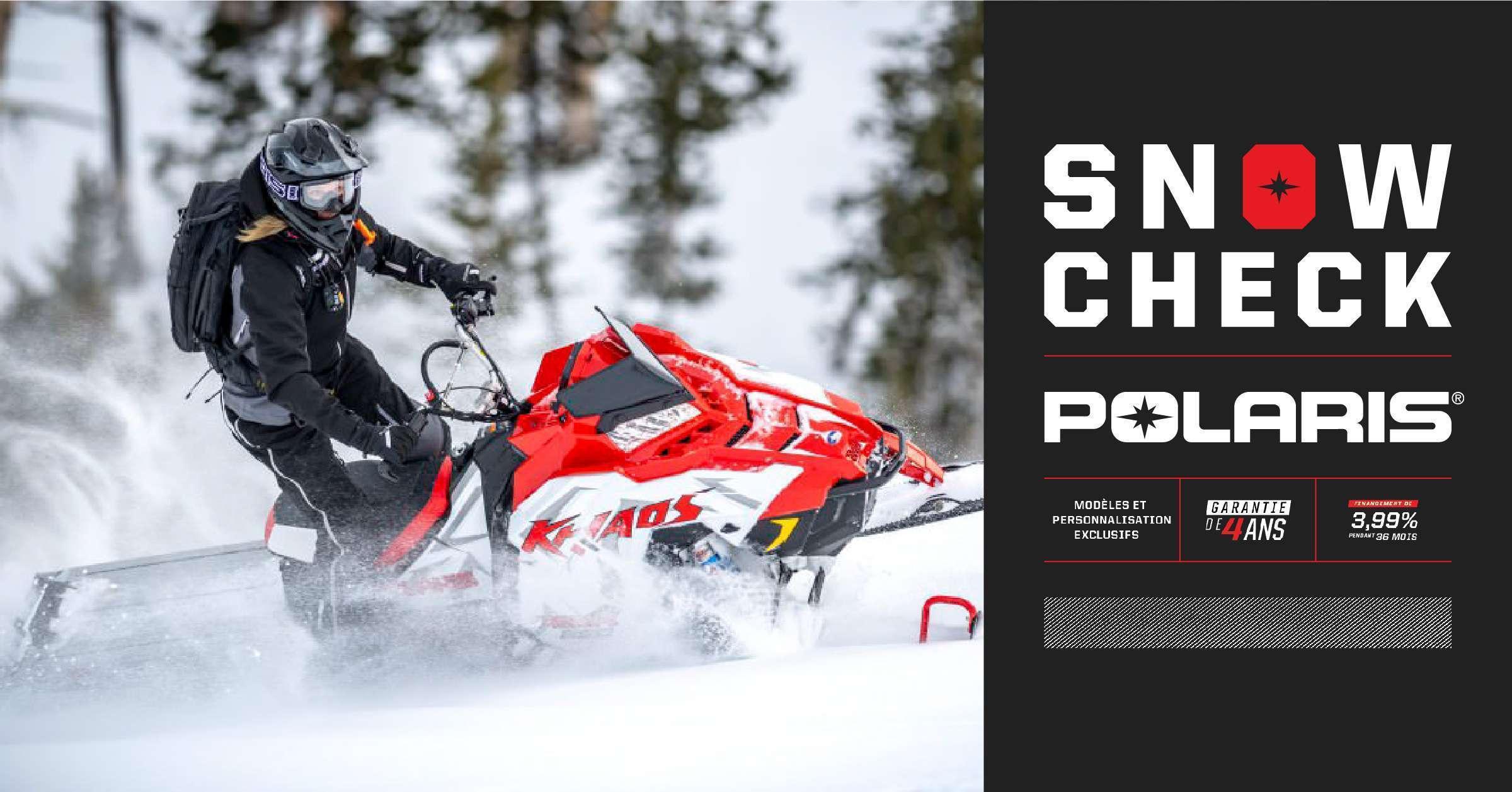 Choisissez votre motoneige Polaris SnowCheck 2020 !