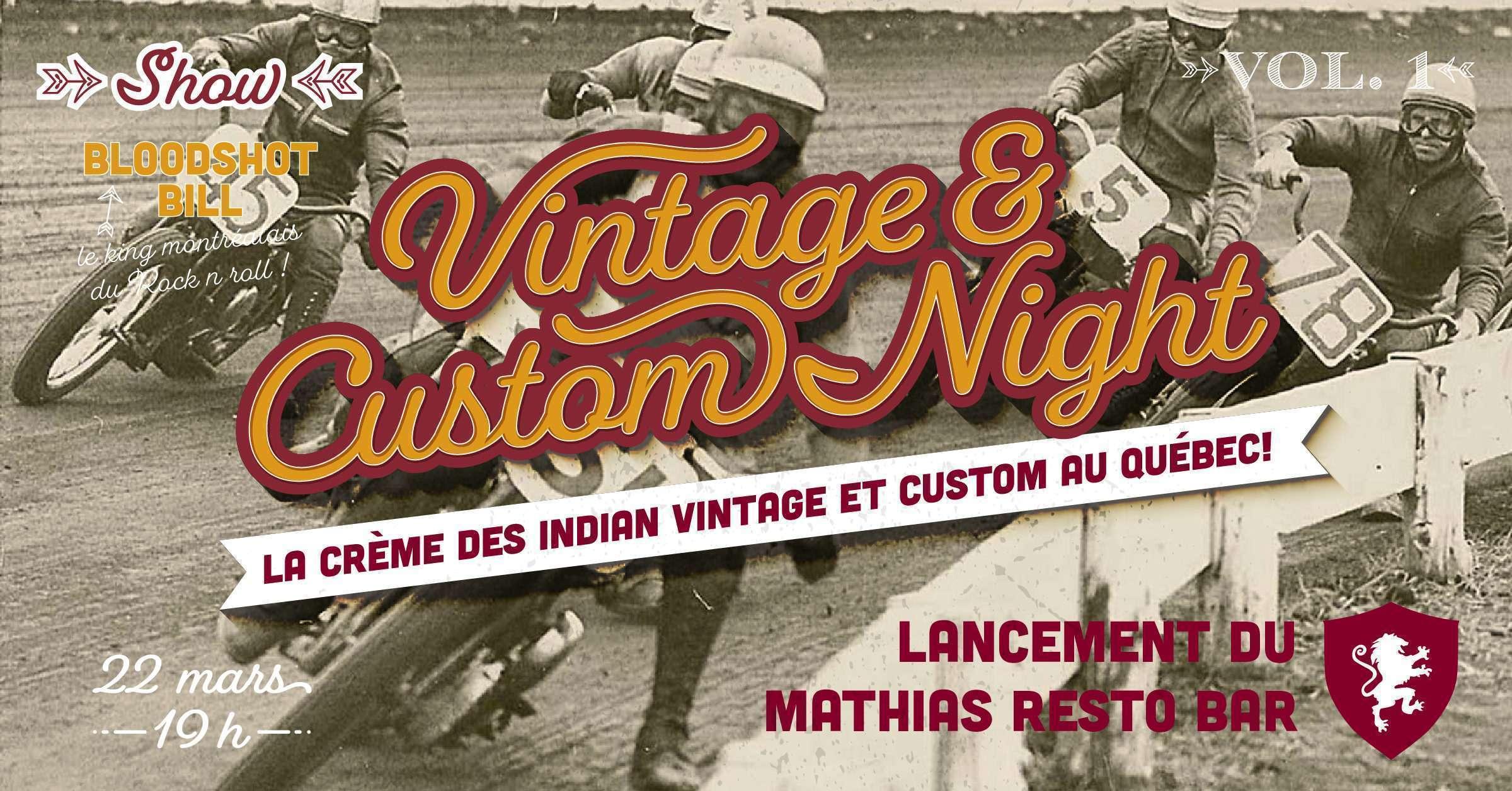 Vintage & Custom Night Vol. 1 Réouverture de notre Resto Bar !