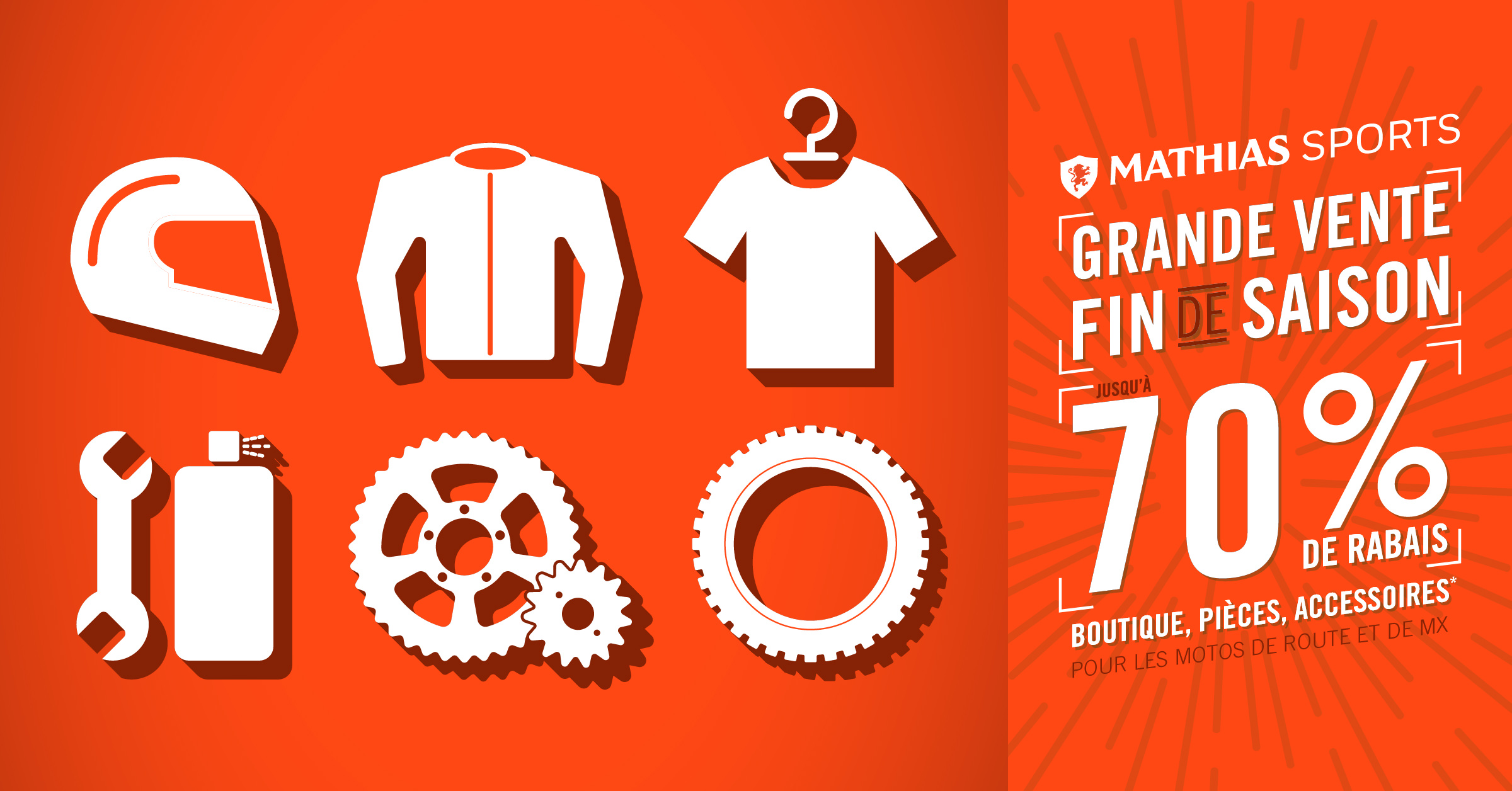 Boutique, pièces, accessoires: c'est la Grande vente de fin de saison !