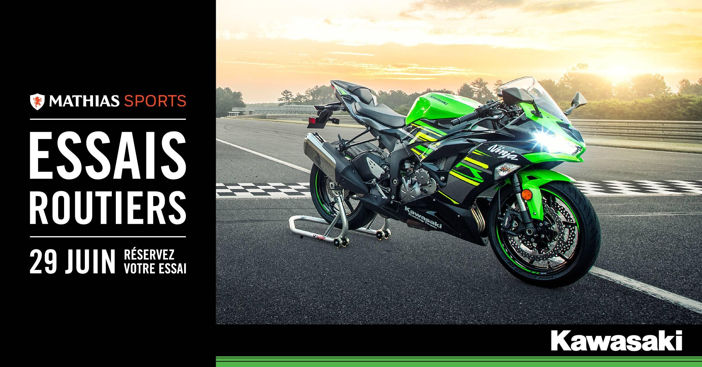 Participez aux essais routiers Kawasaki le 29 juin!