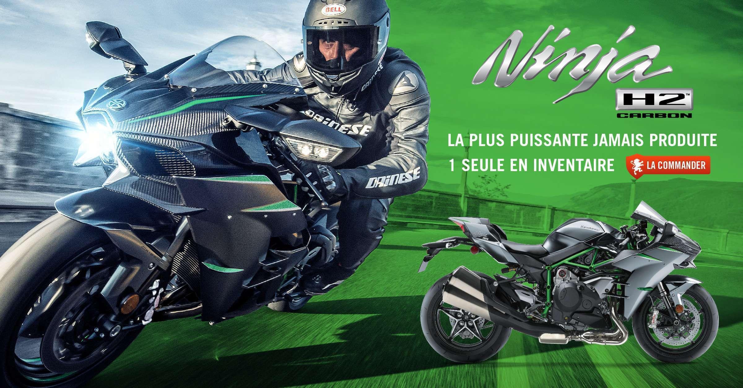 1 seule Kawasaki Ninja H2 Carbon 2019 en inventaire, commandez la!