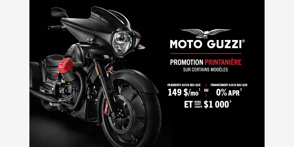Moto Guzzi: promotion printanière