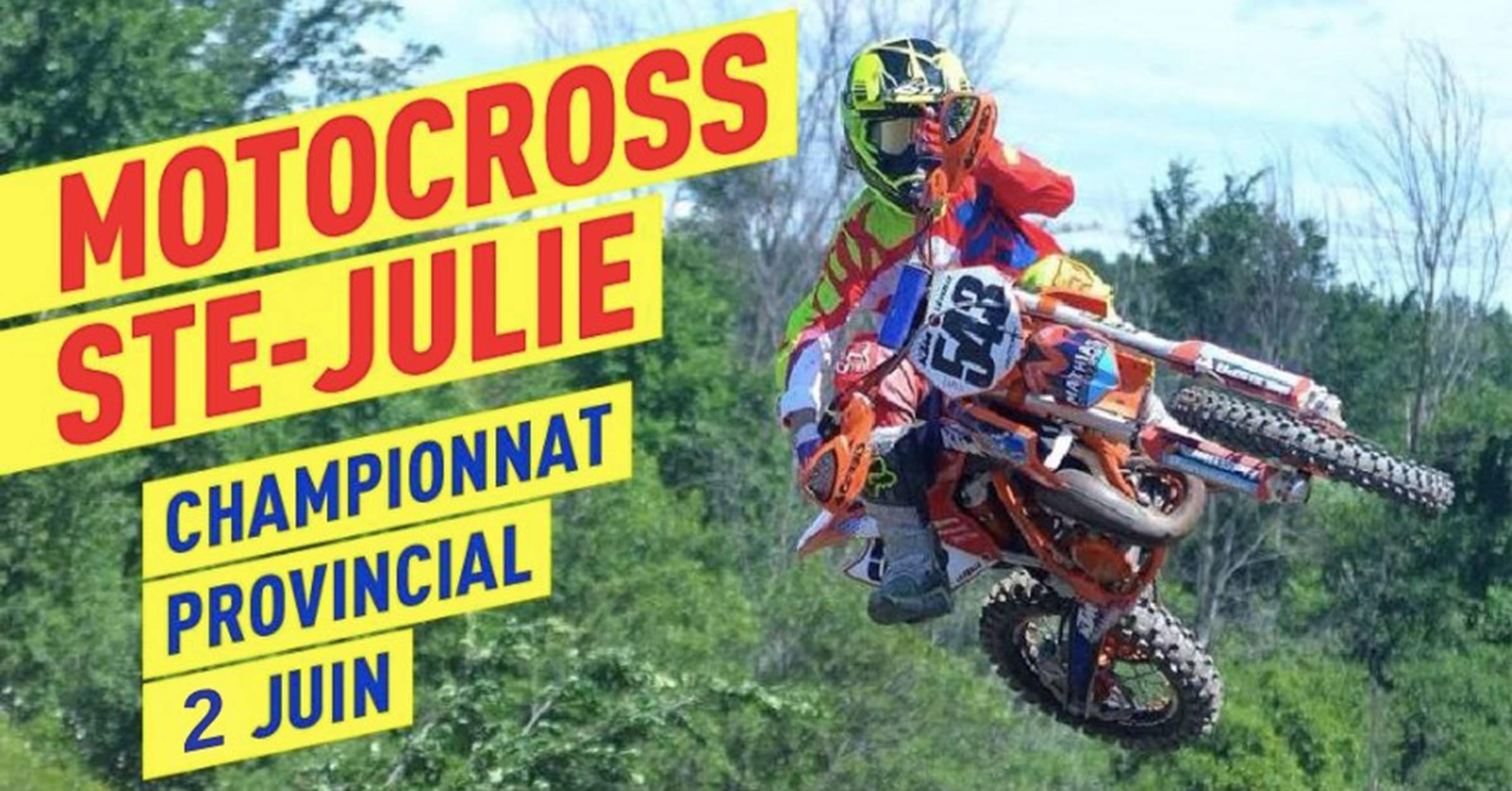 Partenaire du championnat provincial de Motocross Ste-Julie