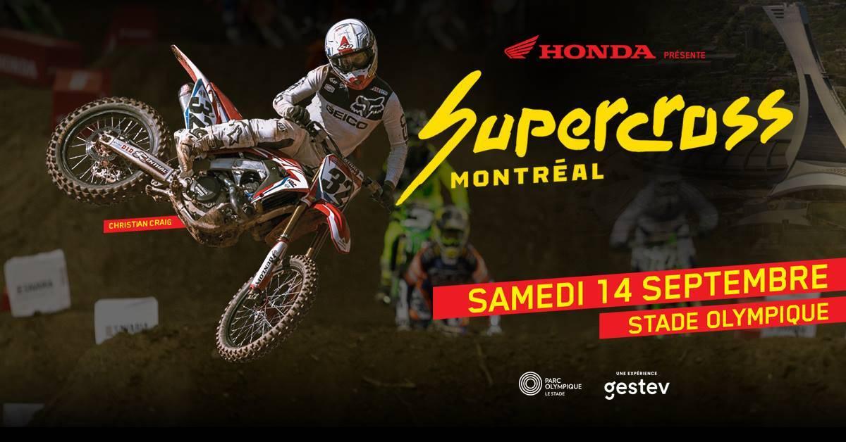 Supercross Montréal 2019: RDV le 14 septembre !